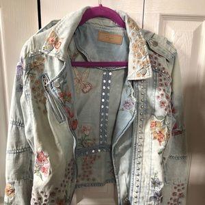 Blank NYC denim embroidered jacket